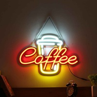 LED Neon Sign Light Tube Visual Artwork Coffee Bar Club KTV Wall Decoration Commercial Lighting Fixture Neon Bulbs Cafeteria