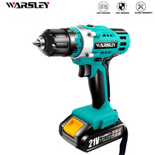 Rechargeable electric Screwdriver Drill 21V lithium battery cordless Drill Screwdriver