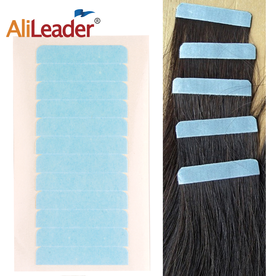 Alileader 5sheets 60pcs Hair Extension Tape Adhesive Bonding Double Sided  Strong Waterproof Tape For Hair Extension/Lace/Toupee
