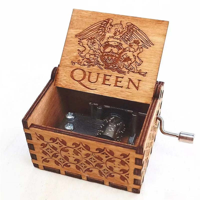 Hand Cranked wooden Music Box Thrones Game Wars Star Christmas new year birthday Queen Theme Castle Sky 13