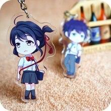Kimi nie Na wa twoje imię Miyamizu Mitsuha Tachibana Anime akrylowe kształty brelok brelok dekoracja zabawka do kolekcjonowania