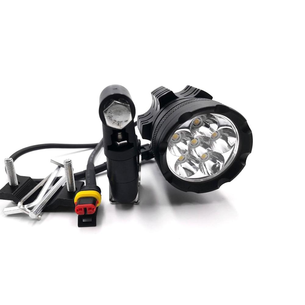 60W motosiklet LED aydınlatma far harici 6 ampul far SUZUKI gsx 250r gsx 1250fa gsr 250f gn 125 250 gsf 600 600s - title=