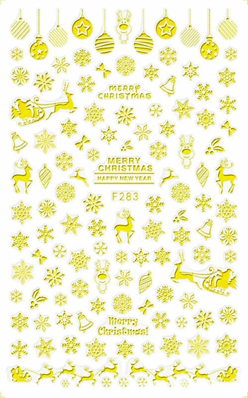1pc Christmas snowflake Nail Stickers Decals Snow Flakes Xmas Wraps Snowman Winter Nail Art Decorations Manicure Tools Sliders