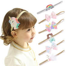 Baby Girl Glitter Unicorn Headband Hair Bows Clips for Kids Girls Accessories Party Gift Hairband