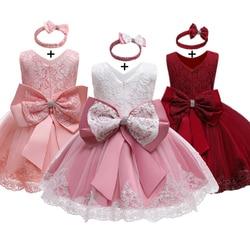 Baby Mädchen Kleidung Neugeborenen Mädchen 1 Jahr Geburtstag Kleid Ärmellose Spitze Taufe Kleidung Baby Weihnachten Kleid Taufe Kleid