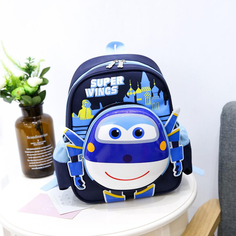 3D Cartoon Orthopedic Children Backpack Kids School Bag Super Wings Schoolbag For Boys And Girls Primary School Bookbags