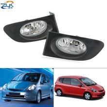 ZUK Car Front Bumper Foglight Foglamp For HONDA FIT JAZZ 2003 2004 2005 2006 2007 2008 GD1 GD3 RHD Japanese Version Fog Light