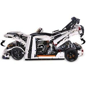 Image 4 - Lepining 23002 Technic samochody zabawkowe kompatybilne z MOC 10574 Koenigseggs uniwersalny samochodowy Model klocki klocki dla dzieci prezenty świąteczne
