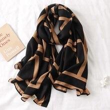 Women Scarf Muffler Hijab Pashmina Cotton Fashion Luxury Brand Scarves-Bandana Wrap Beach-Shawl