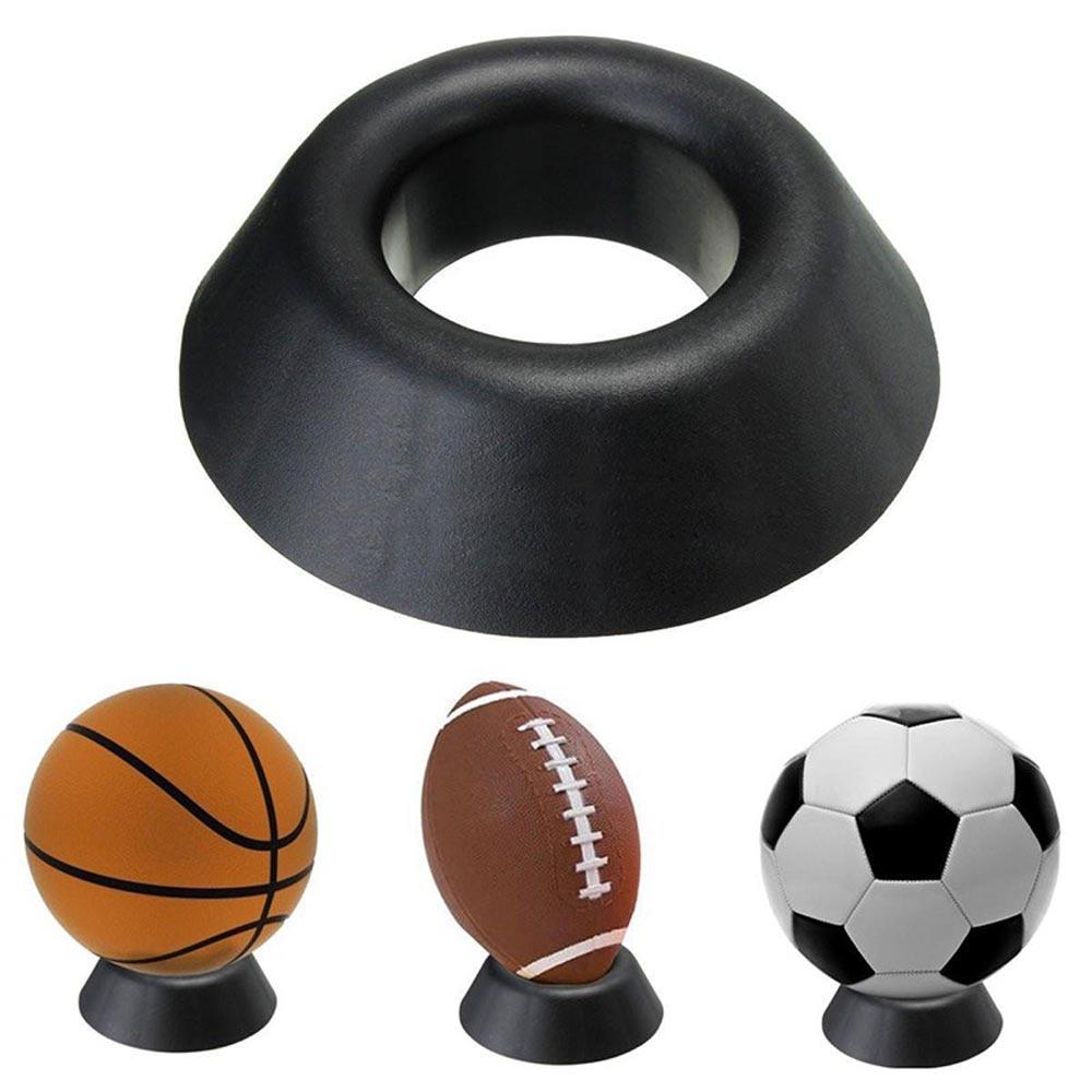 Hot new di Plastica Del Basamento della Sfera di Pallacanestro di Calcio di Calcio di Rugby di Plastica Display Supporto Per Scatola di Caso Semplice E Conveniente Pratico
