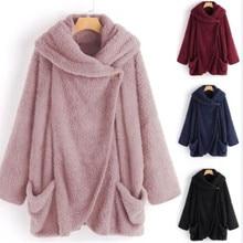 Women's sweater oversized wool cardigan oversized 5XL ladies winter robe 2020 fluffy sweater coat
