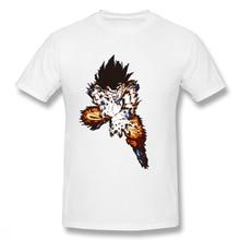 100% cotton Dragon Ball Son Gokus Skills print casual mens o-neck t shirts fashion Mens Basic Short Sleeve T-Shirt