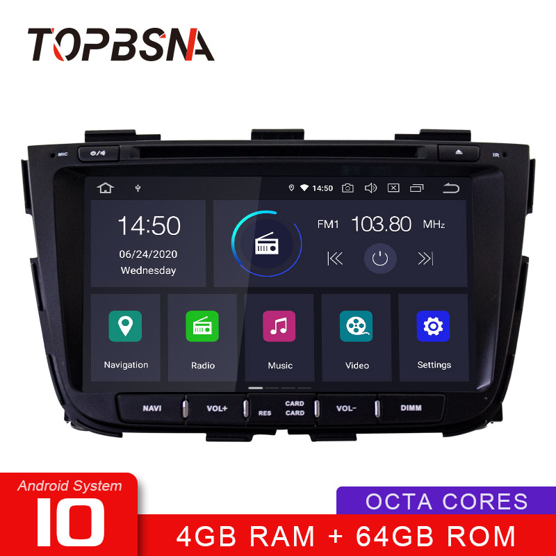 TOPBSNA Car DVD Player Android 10 for kia Sorento 2013 2014 2015 2 Din Car Radio Multimedia Video Stereo Headunit IPS 4G+64G RDS image