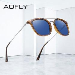 AOFLY BRAND DESIGN Vintage Sunglasses Men Square Frame Driving Sun Glasses Female Classic Luxury Summer Eyewear Women UV400