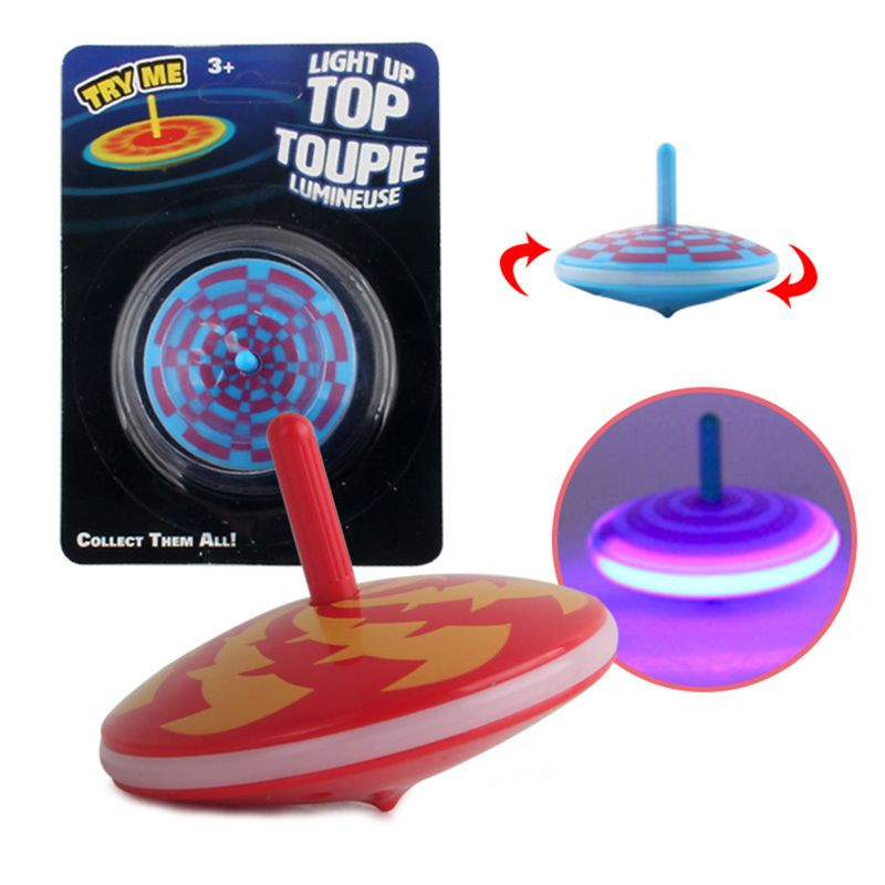 Edge Light Up Gyro Flashing Spinning Tops Party Favors Kids Toy Stress Relief Gyroscop