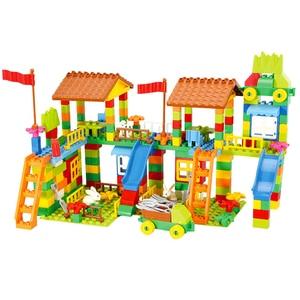 Image 3 - Blocs de construction grande taille, parc dattractions, briques à assembler, compatibles pour le bricolage, jouets pour enfants