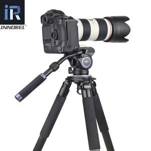 Image 2 - INNOREL F60/F80 וידאו נוזל ראש מקצועי מצלמה חצובה נוזל גרור פאן ראש עבור DSLR מצלמות מצלמות וידאו טלה עדשה