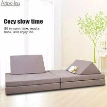 Plancher canapé-lit multifonctionnel Simple tissu canapé chaise inclinable pliant coussin enfants canapé salon meubles sur mesure