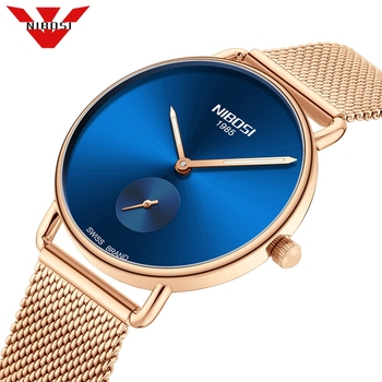 NIBOSI Relogio Feminino Fashion Women Watches Top Brand Luxury Ladies Watch Men Stainless Steel Classic Bracelet Female Clock