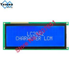 Image 4 - 1 adet büyük büyük karakter lcd ekran paneli 2004 20*4 yeşil mavi 146*62.5mm HD44780 LC2042 AC204B SBS02004A0 kaliteli