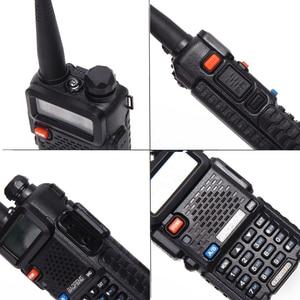 Image 3 - 2 adet Baofeng walkie talkie uv 5r dual band iki yönlü telsiz VHF/UHF 136 174MHz & 400  520MHz FM taşınabilir telsiz kulaklık ile