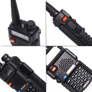 Image 3 - 2 pcs baofeng walkie talkie uv 5r dualband rádio em dois sentidos vhf/uhf 136 174 mhz & 400 520 mhz fm transceptor portátil com fone de ouvido