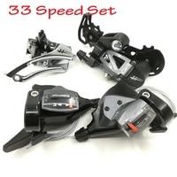 33 Speed Bicycle Derailleurs Set 3*11 Speed Shift Lever & 3 Speed Front & 11 Rear Derailleur Shifter Mountain Bike Microshift