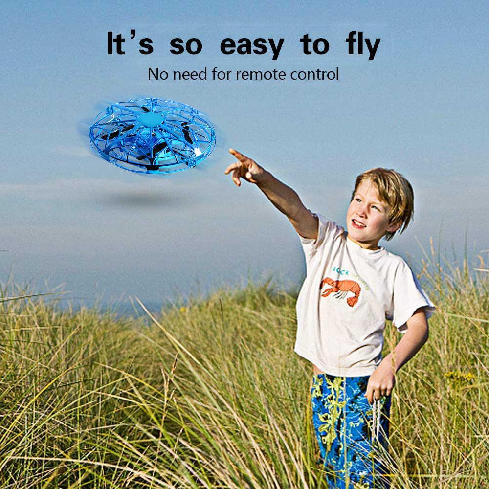 طائرة رباعية بدون طيار صغيرة بأربع محاور ، طائرة رباعية بمستشعر إيماءة ، طائرة بدون طيار RC ، ألعاب رائعة للأطفال ، طائرة رباعية ذكية بتحكم عن بعد