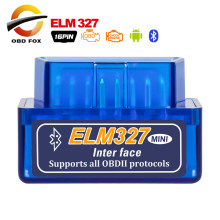 V2.1 Super Mini ELM327 Bluetooth Mobil Kabel Diagnostik Elm 327 Mini Cairan Rem OBD2 Pembaca Kode Scan Alat(China)