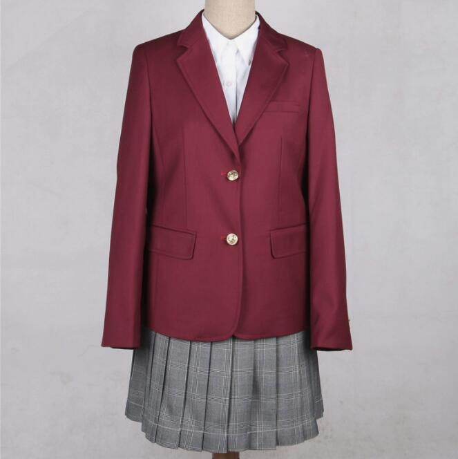 Japan School Uniforms Coats Girls Student Suit Jacket Spring Autumn New British Campus School Uniform Jacket Blazer Jk Cosplay