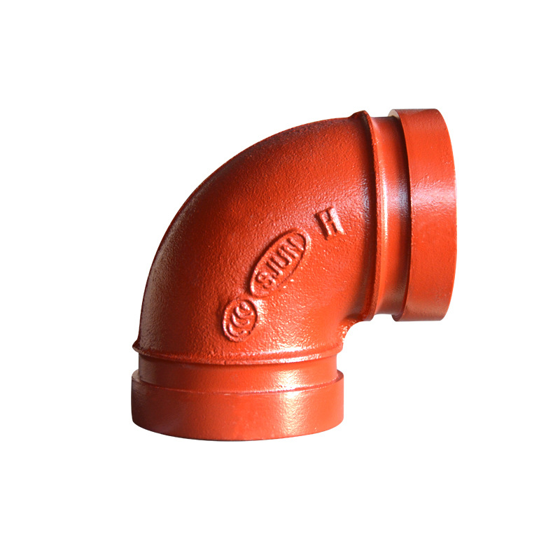 Manufacturers Direct Selling Firefighting Engineering Pipe Fitting Groove Elbow 90 Degrees DN100 A Complete Range Of Specificati