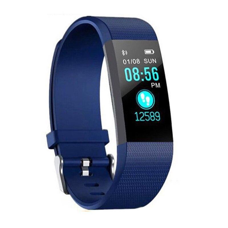 Sport Health Waterproof Fitness Smart Watch Activity Tracker Wrist Band 115 Plus Smart Band Sport Health Waterproof Pedometers 4
