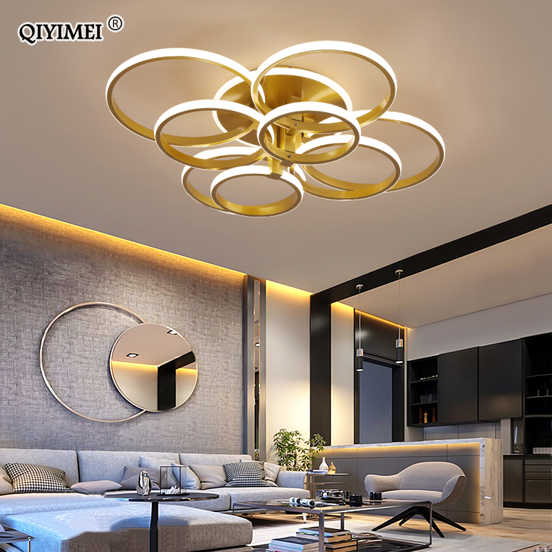 modern led chandelier with remote control acrylic lights For Living Room Bedroom Home Chandelier ceiling Fixtures Free Shipping 5