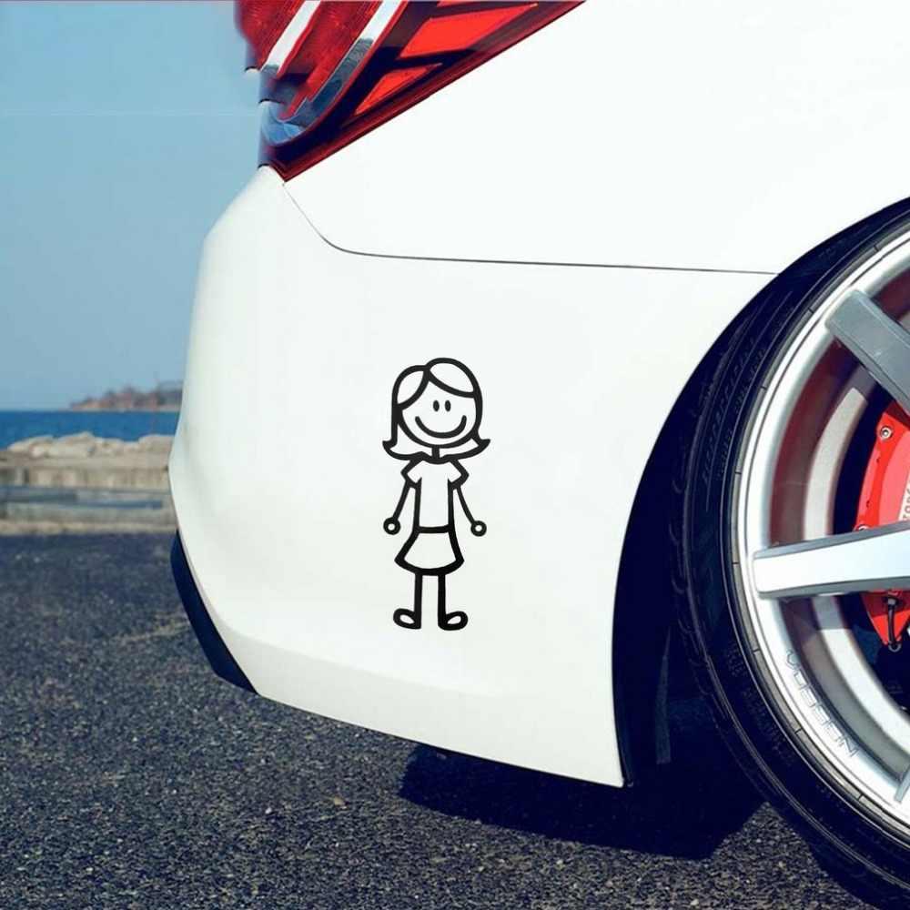Pegatina de vinilo reflectante para el cuerpo del coche de los miembros de la familia divertidos para las motocicletas del coche