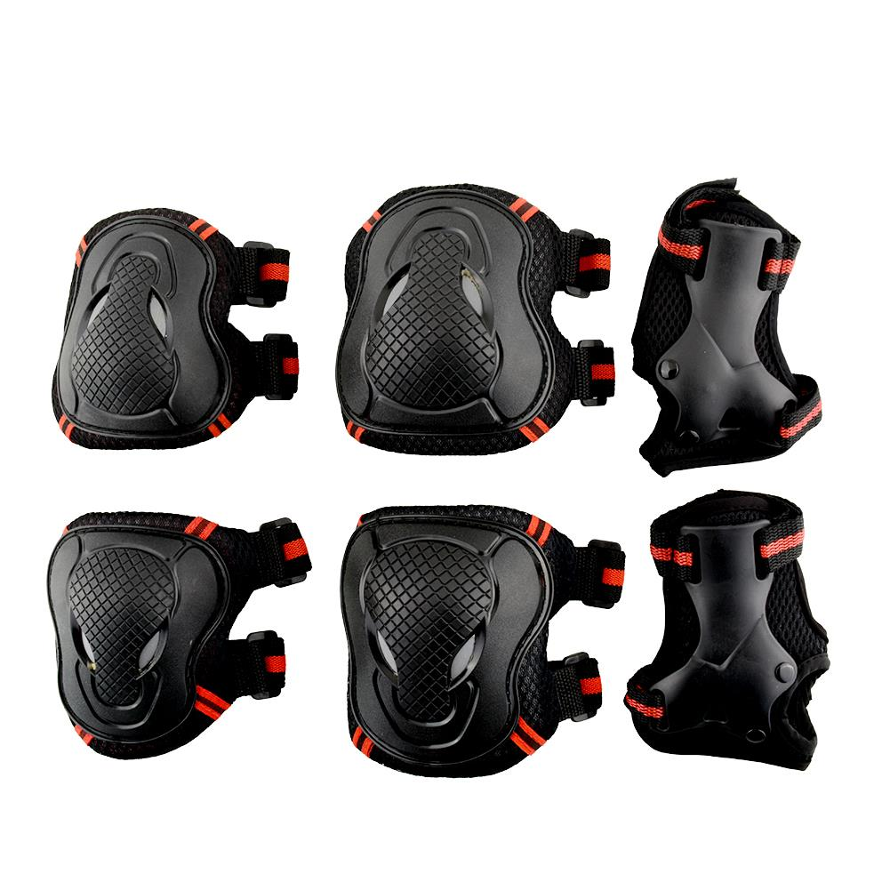 Gear Guard Adult Unisex Pad Wrist 6x Protective Elbow Skateboard 6pcs