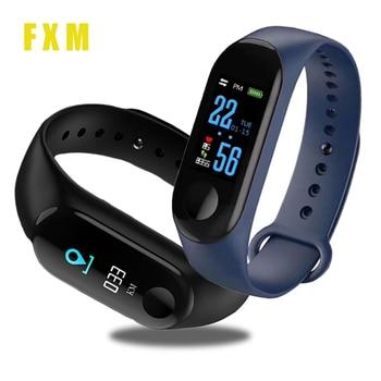 Smart Watch Sport Band Blood Pressure Monitor Wristband Smartwatch Bracelet M3Plus for Men Women Kid reloj