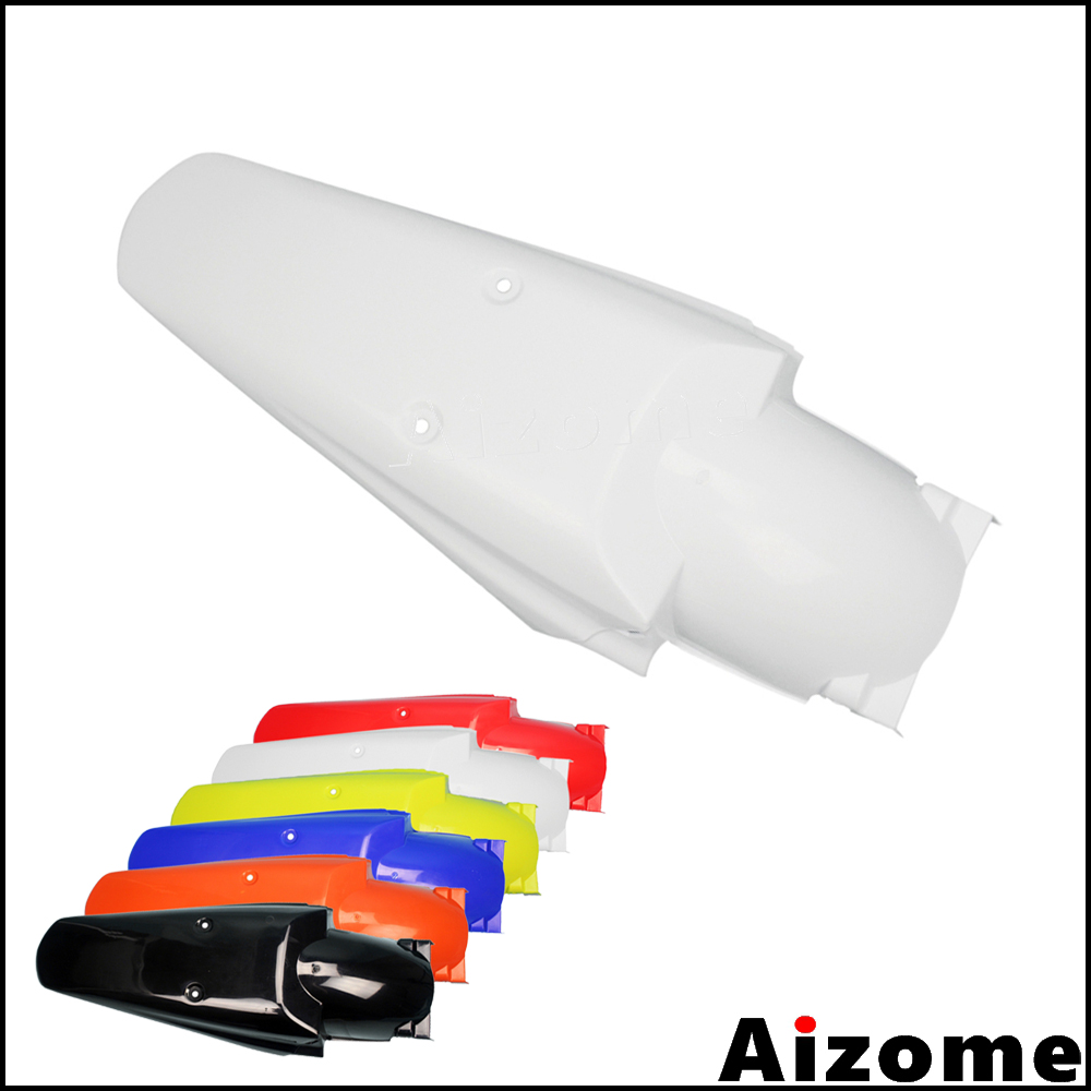 Universal White Enduro Rear Mudguard For <font><b>Honda</b></font> CR <font><b>XR</b></font> CRF 100 150 200 230 250 <font><b>350</b></font> 400 450 500 600 650 Dirt Bike Motocross Fender image