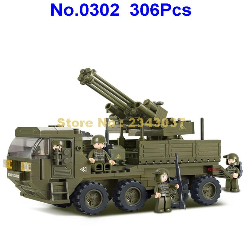 Sluban WWII GAZ-67 camion léger//JEEP Mini Figures compatible Building Bricks