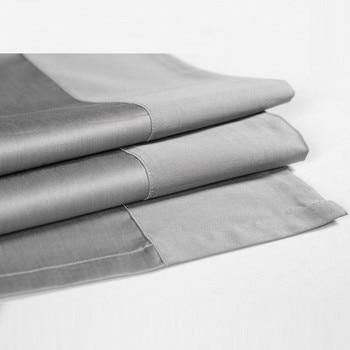 Wholesale High quality wrinkle free Hotel Home Egyptian Cotton Satin Bed Flat Sheets usa ropa de cama cubrecama Solid Bedsheet