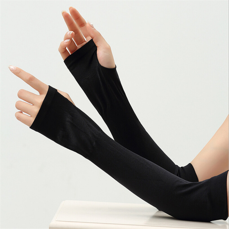 2 Pcs Arm Sleeves Warmers Safety Sleeve Women Sun Uv Protection Sleeves Long Arm Cover Cooling Warmer For Golf Cycling Summer