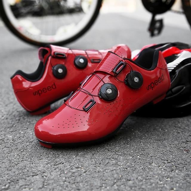 2020 nova estrada borracha-sola sapatos de ciclismo ultra-leve antiderrapante profissional auto-bloqueio sapatos esportes ao ar livre efeito fluorescente 6