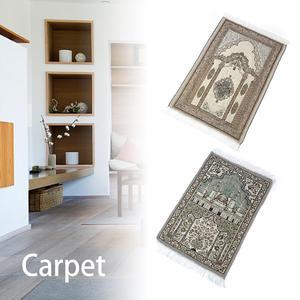 Image 2 - Alfombra de oración islámica para el hogar, sala de estar con borla gruesa, alfombrillas de adoración suave, decoración, cobija de oración musulmana, alfombra étnica