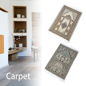 Image 2 - Islamic Prayer Rug Home Living Room Thick With Tassel Floor Soft Worship Mats Decoration Muslim Prayer Blanket Ethnic Carpet