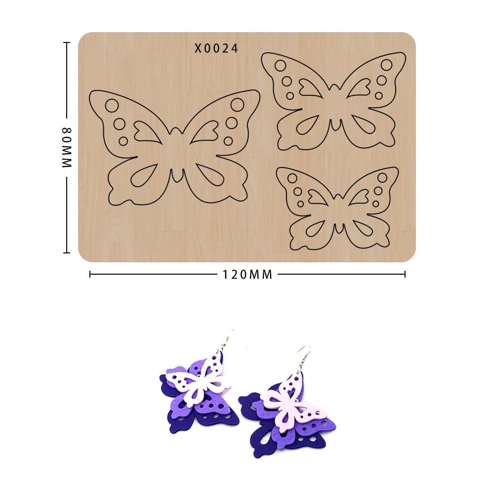 wood moulds die cut Scrapbook Butterfly earrings DIY handmade crafts Making Decor Supplies Dies Template 1