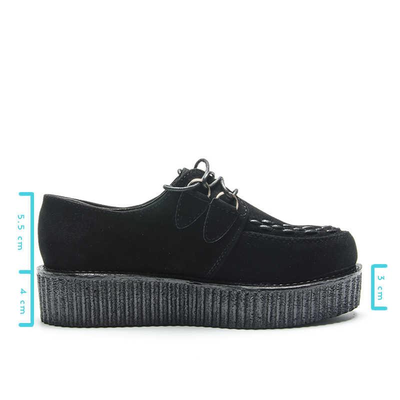 Fujin Thương Hiệu Kích Thước Lớn Nền Tảng Phẳng Nữ Giày Nữ Mùa Xuân, Mùa Thu Sneakers Nữ Da Đanh Mềm Mại Thời Trang Giày