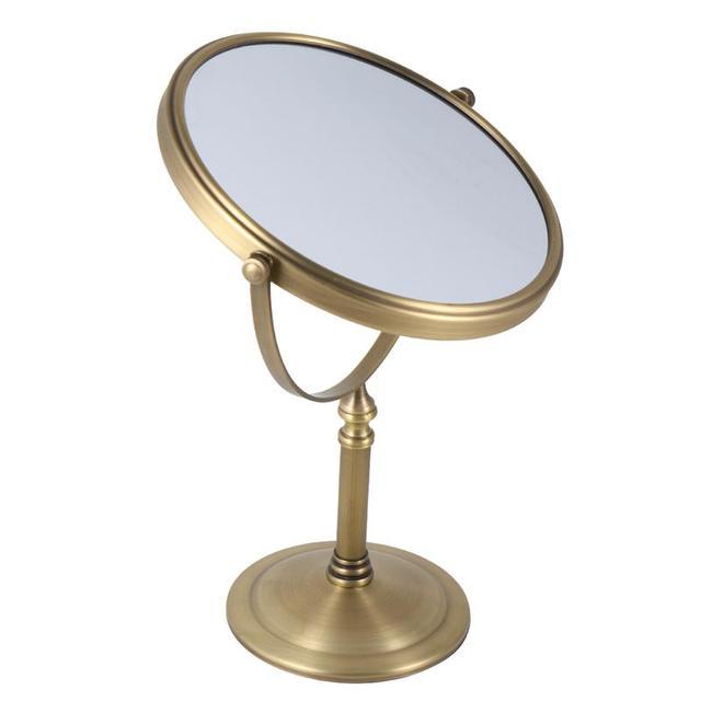 Двухстороннее зеркало для макияжа 3X/5X/7X/10X, зеркало с увеличением 6 дюймов/8 дюймов, настольное косметическое зеркало для дома, спальни, ванной комнаты