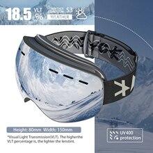 New Winter Magnet UV Mirror Ski Goggles Sport Ski Goggles Outdoor Snow Mirror Snowboard Adult Anti-fog Spherical Snowmobile