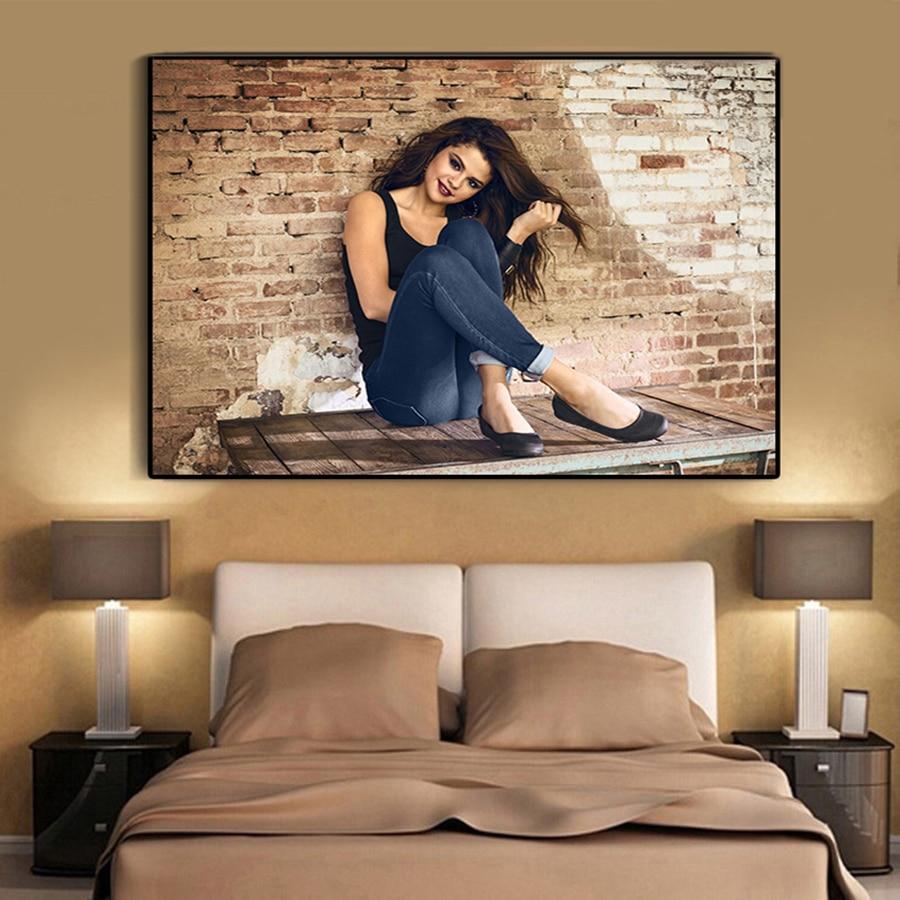 Poster Selena Gomez Pop Singer Star Room Club Art Wall Cloth Print 504