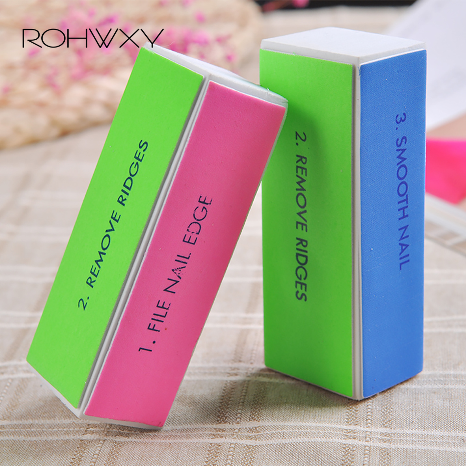 ROHWXY 3pcs Nail Buffer Files Nail Art Sanding File Polish Buffer Block File Nail Art Polisher Manicure Nail File