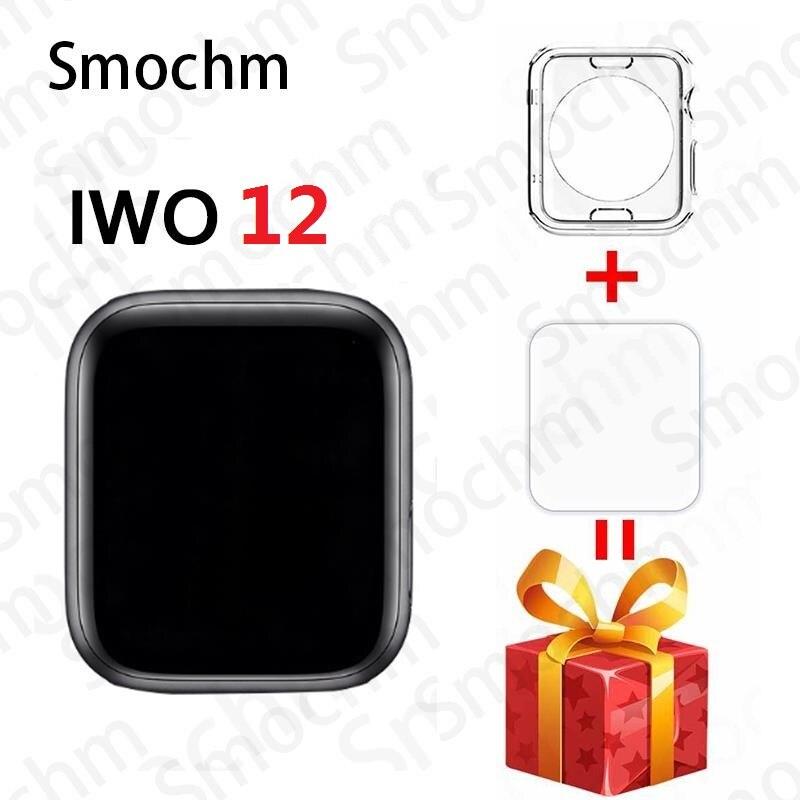 Беспроводное зарядное устройство Smochm IWO 12 Pro, водонепроницаемые Смарт часы с Bluetooth, серия 5 44 мм 40 мм, 1:1, спортивные умные часы для iPhone Android